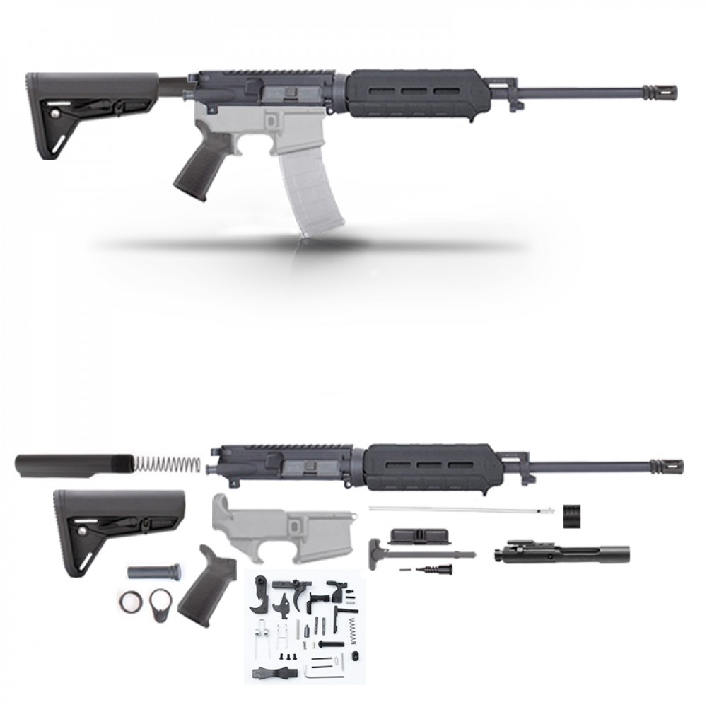 Ar15 16 Rifle Build Kit W Magpul Furniture Blk 80 Lower Lpk No