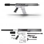 "AR15 10.5"" 7.62X39 Pistol Kit - 7"" Keymod Free Float Handguard with 2"" and 3"" Rails"
