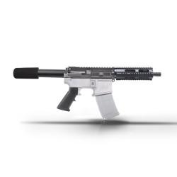 """AR15 7.5"""" 9mm Pistol  Kit - 7"""" Quad Rail Handguard"""