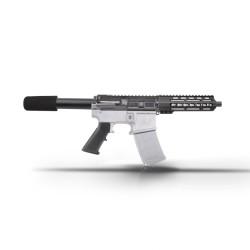 "AR15 7.5"" 9mm Pistol  Kit - 7"" Keymod Super Slim Light Handguard"