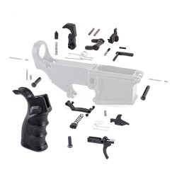 Lower Parts Kit w/ Upgraded Grip, Extended Trigger Guard, Ambi Dual Selector