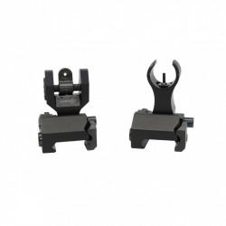 AR Flip Up Mini Front and Rear Sight
