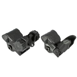 Tactical Polymer Flip up Front and Rear Sight BLACK