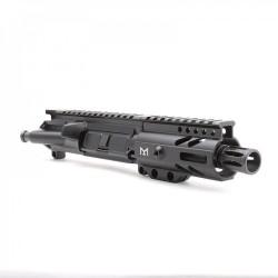 "AR-9mm 4.5"" PISTOL LENGTH 1:10 TWIST W/ 4"" SUPER SLIM M-LOK HANDGUARD - UPPER ASSEMBLY"