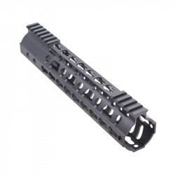 "AR-10 10"" Super Slim Light Keymod Free Float Handguard w/Steel Barrel Nut"