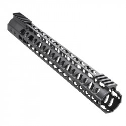 "AR-10 15"" Super Slim Light Keymod Free Float Handguard w/Steel Barrel Nut"