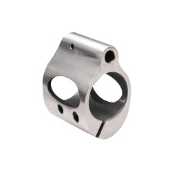 .750 Low Profile Steel Gas Block with CLAMP Stainless - NO Package