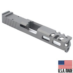 Glock 19 Custom Slides with Trijicon RMR cut out - GREY (Made in USA)