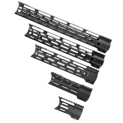 "AR-15 Combat Hybrid M-Lok Handguard ""C"" Cut - Black (OPTIONS AVAILABLE)"
