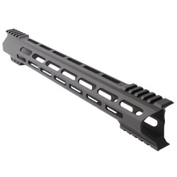 "AR-15 M-Lok 15"" Super Slim Hybrid Free Float Handguard ""C"" Cut - BLACK"
