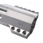 "AR-15 M-Lok 7"" Super Slim Hybrid Free Float Handguard ""C"" Cut - RAW"
