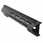 "AR-10 M-Lok 12"" Super Slim Light Free Float Handguard ""C"" Cut - Black (Made In USA)"