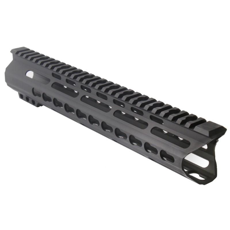 "AR15 12"" Custom Made In USA Super Slim Light Keymod Free Float Handguard C-Cut -BLACK- (MADE IN USA)"
