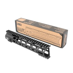 "AR-15 10"" Combat Modular M-Lok Handguard ""C"" Cut - Black"
