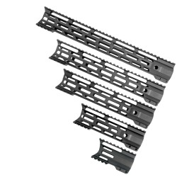 "AR-15 Combat Modular M-Lok Handguard ""C"" Cut - Black (OPTIONS AVAILABLE)"