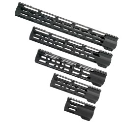 AR-15 M-Lok Super Slim Free Float Handguard - Black (OPTIONS AVAILABLE)