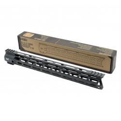 "AR-15 15"" Combat Hybrid M-Lok Handguard ""C"" Cut - Black"