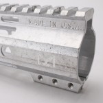 "AR-15 15"" Custom USA Made M-Lok Super Slim Light Free Float Handguard ""D"" Cut-RAW  (MADE IN USA)"