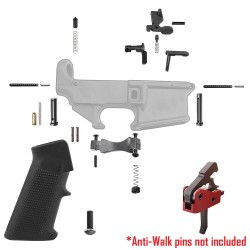 AR-15 Lower Parts Kit w/ Standard Grip &  Drop-In Trigger System