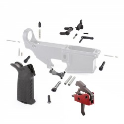 Lower Parts Kit w/ Magpul Grip & Drop-In Trigger System and Anti-Walk Pins