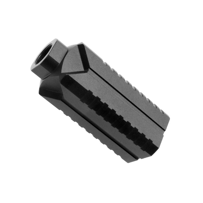 AR 9 Muzzle Diverter 5/8x24 Steel Flash Can - Black