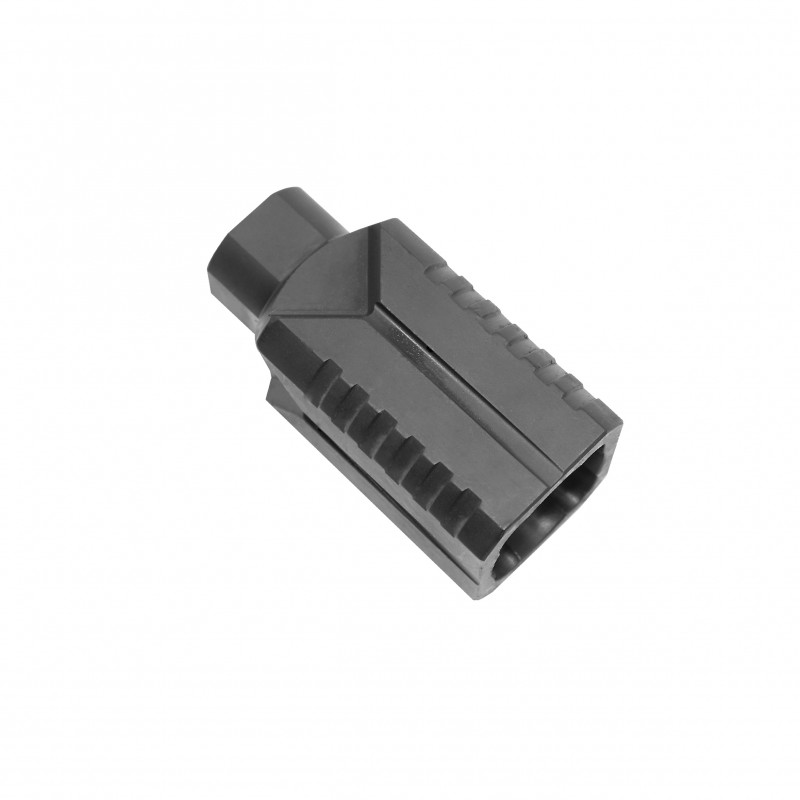 AR-10 Muzzle Diverter 5/8x24 Steel Flash Can - Black
