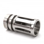 """AR 9MM Stainless Steel Muzzle Brake for 1/2""""x36  Pitch - 5 Ports"""