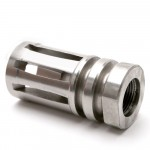 """A2 Stainless Steel Muzzle Brake for 1/2""""x28 Pitch - 5 Ports"""