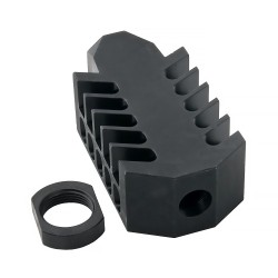"AR-10 Barret Style ""Tanker"" Muzzle Brake v2 5/8X24"" Thread Pictch - STEEL"