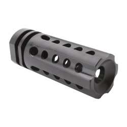 "AR 9MM Multi Port Flash Hider - 1/2""x36 Thread Pitch  - Black"