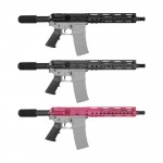 "AR-15 5.56 NATO 10"" PISTOL KIT WITH 10"" KEYMOD CREAKOTE HANDGUARD (OPTION AVAILABLE)"