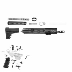"AR 9MM 4.5"" PISTOL BUILD KIT W/4"" KEYMOD HANDGUARD (ASSEMBLED UPPER)"
