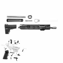 "AR 9MM 4.5"" PISTOL BUILD KIT W/4"" M-LOK HANDGUARD (ASSEMBLED UPPER)"