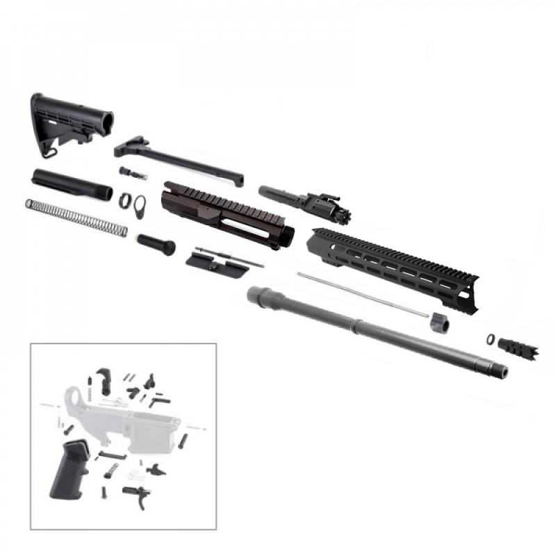 "AR10  20"" RIFLE BUILD KIT W/15"" M-LOK HANDGUARD BCG LPK & STOCK KIT"