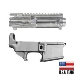 AR-15 USA Made Upper Receiver and Lower Receiver - RAW
