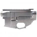 AR-15 BILLET UPPER RECEIVER W/ 80% BILLET LOWER RECEIVER - RAW (Made in USA)