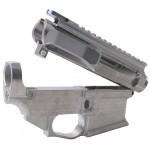 AR-15 BILLET UPPER RECEIVER W/ 80% BILLET LOWER RECEIVER - RAW