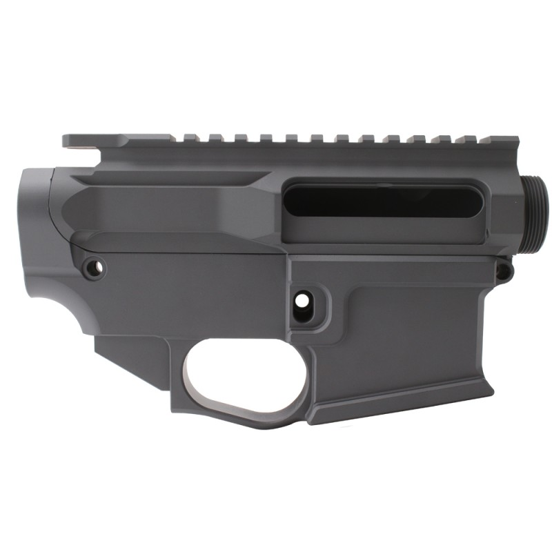 AR-15 BILLET UPPER RECEIVER W/ 80% BILLET LOWER RECEIVER CERAKOTE - SNIPER GREY