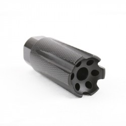 "AR-15 Low Concussion Muzzle Brake 1/2""x28 Pitch TPI Knurled -6 ports"