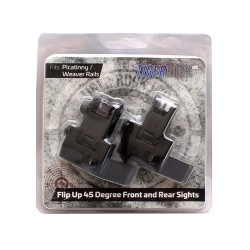 Flip Up 45 Degree Front and Rear Sight .223 Packaged