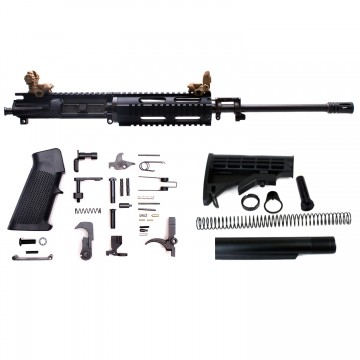 AR-15 Rifle Build Kit with LPK&RSPOL-T Front/Rear Flip Up Sights (BCG, 223UP, ARFA, DC223, CH223, FAR-07, GTC, MBR05, TL223, BR169-BFI, ST003M, ST007M, LPK-17,RSPOL-T)