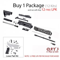 "DAY 3: AR-15 Rifle Kit and 12"" Keymod Super Slim Handguard (Package of 12)"