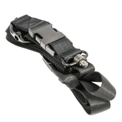 1 & 2 Point Bungee Sling  w/ H&K Hook QD Buckle & Metal D-Ring