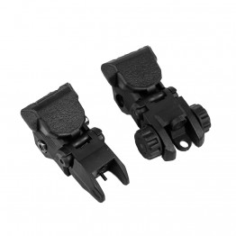 Tactical Polymer Flip up Front and Rear Sight