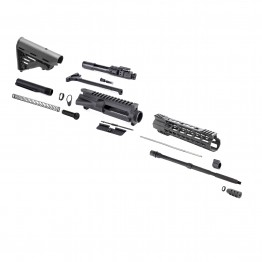 AR-15 Rifle Kit with Blackhawk Stock without LPK (BCG-N, 223UP, ARFA, DC223, CH223, FSSK12, GB01-B, GTC, MBR37, TL223, BR167-P, STBK, ST007M)