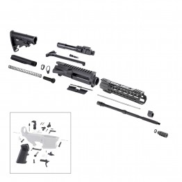 AR-15 Rifle Kit with LPK (BCG-N, 223UP, ARFA, DC223, CH223, FSSK10, GB01-B, GTC, MBR37, TL223, BR167-P, ST003M, ST007M, LPK-17)