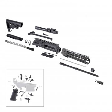 AR-15 Rifle Kit with LPK (BCG, 223UP, ARFA, DC223, CH223, FSSK10, GB01-B, GTC, MBR37, TL223, BR167-P, ST003M, ST007M, LPK-17)