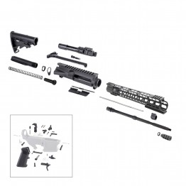 AR-15 Rifle Kit with LPK (BCG-N, 223UP, ARFA, DC223, CH223, FSSK15, GB01-B, GTC, MBR37, TL223, BR167-P, ST003M, ST007M, LPK-17)