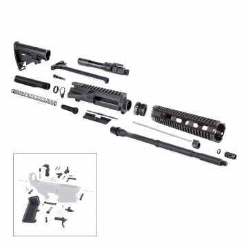 AR-15 Rifle Kit with LPK (BCG, 223UP, ARFA, DC223, CH223, FAR-10, GB01-B, GTC, MBR05, TL223, BR167-P, ST003M, ST007M, LPK-17-FEC)
