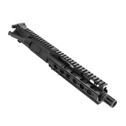 "AR .300 Blackout 7.5"" Pistol Length Barrel, Slim Free Float, Complete Upper(BR377-P, 223UP, ARFA, DC223, BCG, CH223, GTP, MBR06-308, TL308, GB01-B, CTFF7)"